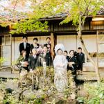 京都山ばな平八茶屋にて家族結婚式
